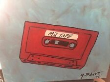 ONE OF A KIND ICONIC 80'S CASSETTE TAPE 12X16 ACRYLIC. PERFECT 4 MAN CAVE!!!