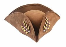 Brown Pirate Bullet Hat Captain Jack Sparrow Real .223 M16 Brass Bullet Cosplay