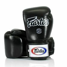 FAIRTEX BGV1 Cuero Guantes De Boxeo Muay Thai Kickboxing Negro Universal sparring