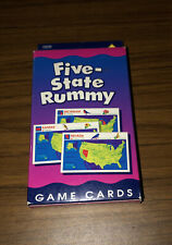 Game Cards: Five-State Rummy by School Zone Publishing Company Staff (1999, Car…