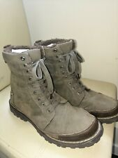 Mens CLARKS Brown Voi Jeans Fur Lined Boot Size 7 EU 41