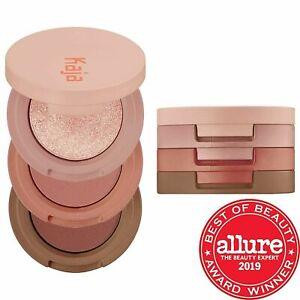NIB Kaja Beauty Bento Bouncy Shimmer Eyeshadow Trio 08 CHOCOLATE DAHLIA