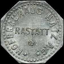 BIERMARKE: Gut für 1 Glas Bier. HOFBRAUHAUS HATZ A:G. - RASTATT / BADEN.
