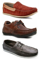 Red Tape Mens Leather Shoes Mens Moccasins Deck Shoes Suede Leather - Size 6-11