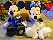 """Mickey Mouse and Minnie Mouse Disneyland 60th Anniversary Celebration Plush 18"""""""