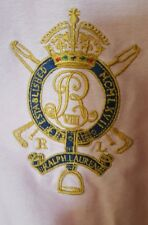 VTG Ralph Lauren Pink Button Shirt Rare Large CROWN CREST Logo GLOBAL SHIP