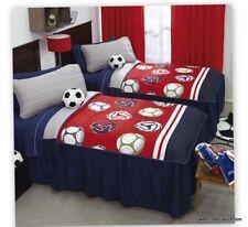 Futbol Soccer Comforter Bedding Bedroom Bedspread Sports Full Sheets 5PC Boy NEW