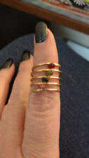 Nashelle Muse Coil Stone Ring Tourmaline 14K Gold Fill Size 8 NEW