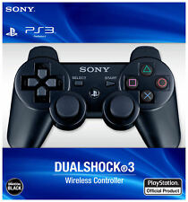 BLACK SONY OEM PS3 SIXAXIS DUALSHOCK PLAYSTATION 3 WIRELESS CONTROLLER UK STOCK