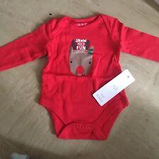 Bebé Navidad Rudolph Chaleco 3-6 nuevo #free Post