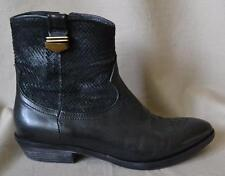 KBR Black Leather Ankle Boot Size 7 Very Gently Worn