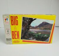 Vintage 1965 Jigsaw Puzzle Big Ben 1000 Pieces Milton Bradley Mountain Lake New