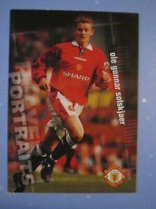 Ole Gunnar Solskjaer Portraits card from Manchester United 1997 Futera card set