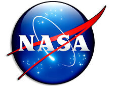 "4x4 inch ""3D Look"" NASA Meatball Logo Shaped Sticker -decal 3d space science"