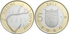 FINLANDIA 5 EUROS 2011 UNC PROVINCIA DE LAPONIA BIMETALLIC FINNLAND LAPLAND