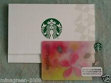 JAPAN STARBUCKS COFFEE Card SAKURA 2015 Bliss Limited Cherry Blossom with Sleeve