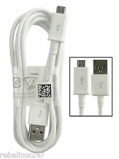 100 Genuine Official USB Charger Cable Lead for Samsung Galaxy S3 S4 S5 Note3 4
