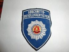 MILITARY  PATCH CLOTH EAST GERMANY GERMAN MADE ABSCHNITTS BEVOLLMACHTIGTER BLUE