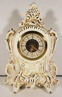Narco Mantel Clock Porcelain West Germany Vintage