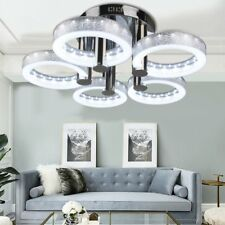 European Modern Round Acrylic Chandelier Ceiling Pendant Light+5*18W LED Lamp BP