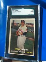 1957 Topps Early Wynn Cleveland Indians HOF SGC 50 VG-EX