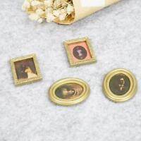 1:12 Dollhouse Miniature Framed Wall Painting Home Decor Room Items 4 items