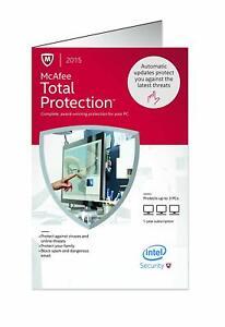 McAfee 2015 Total Protection Protege hasta 3 PC TPM15LMB3RAA En Español