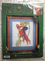 Scarlet Macaws Tropical Bird Cross Stitch Kit Designs for the Needle HTF OOP New