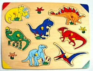 Toddler Wooden Puzzle, Dinosaurs, by Learning Journey
