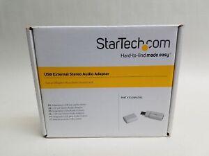 New StarTech ICUSBAUDIO USB to Stereo Audio Adapter Converter