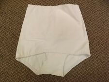 Pin Up Vtg 50s NEW Deadstock White Rayon Rubber Hi Waist Shaper Brief Panties M
