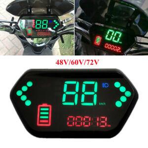 E-Bike LED Display Instrument Dashboard Gauge Windshield Bracket Speed Indicator
