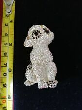 Brooch Set With Black And White Cr