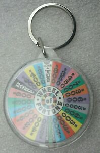 NEW WHEEL OF FORTUNE  Keychain TV GAME SHOW Fan Gift Key Chain Pat Sajak Keyring
