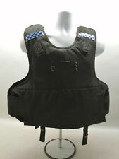 More details for ex police body armour mehler black overt dual purpose vest security obsolete