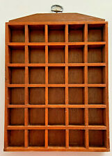 Wooden Thimble Display Case Rack Holds 30 Thimbles Wall Mountable