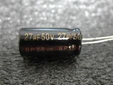 4 X PANASONIC 27uF 50V BI POLAR ELECTROLYTIC CAPACITOR