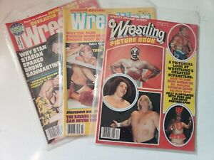 1977 Sports Review Wrestling and The Wrestler Andre Bruno Graham Mascaras Rhode