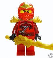 Lego Ninjago Kai ZX - with Armor Minifigure w/ Special Gold Sword & Weapons
