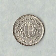 More details for 1944 silver threepence in extremely fine condition