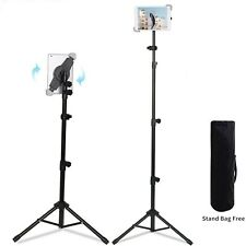 "Adjustable Tablet Tripod Stand for iPad Air Mini Pro 9.7"" and Samsung Galaxy Tab"