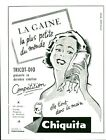Publicité ancienne gaine Chiquita 1953 issue de magazine