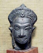 RARE TETE DE BOUDDHA SHAKYAMUNI - 1800 AD - THAILAND SIAM BRONZE BUDDHA HEAD