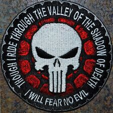 ZOMBIE HUNTER TACTICAL: PUNISHER RIDE MOTORCYCLE BLOOD BIKER PATCH PSALM 23:4