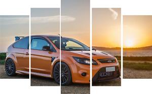 Ford Focus orange > ST > RS > car >  canvas > print > ON FRAMES > art