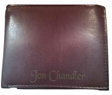 Personalized Mens Wallet Bifold Brown Leather Engraved Free Groomsman Best Man