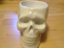 Goth WHITE SKULL CANDY  TREAT SOAP DISH BOWL halloween decor