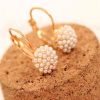 Women Fashion Pearl Beads Ear Stud Korean Earrings Wedding Party Jewelry Gift UK