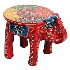 Ethinc Rajasthani Designer Handcrafted Durable Wooden Elephant Stool Side Table