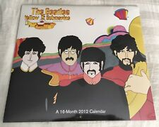 $$ Rare Beatles 2012 Yellow Submarine Calendar Factory Sealed! $$